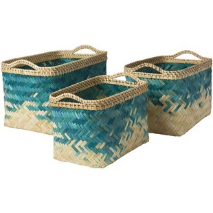 Best Choices 3 Piece Decorative Basket Set By Bay Isle Home