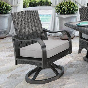 Kohn Swivel Patio Dining Chair with Cushion (Set of 2)