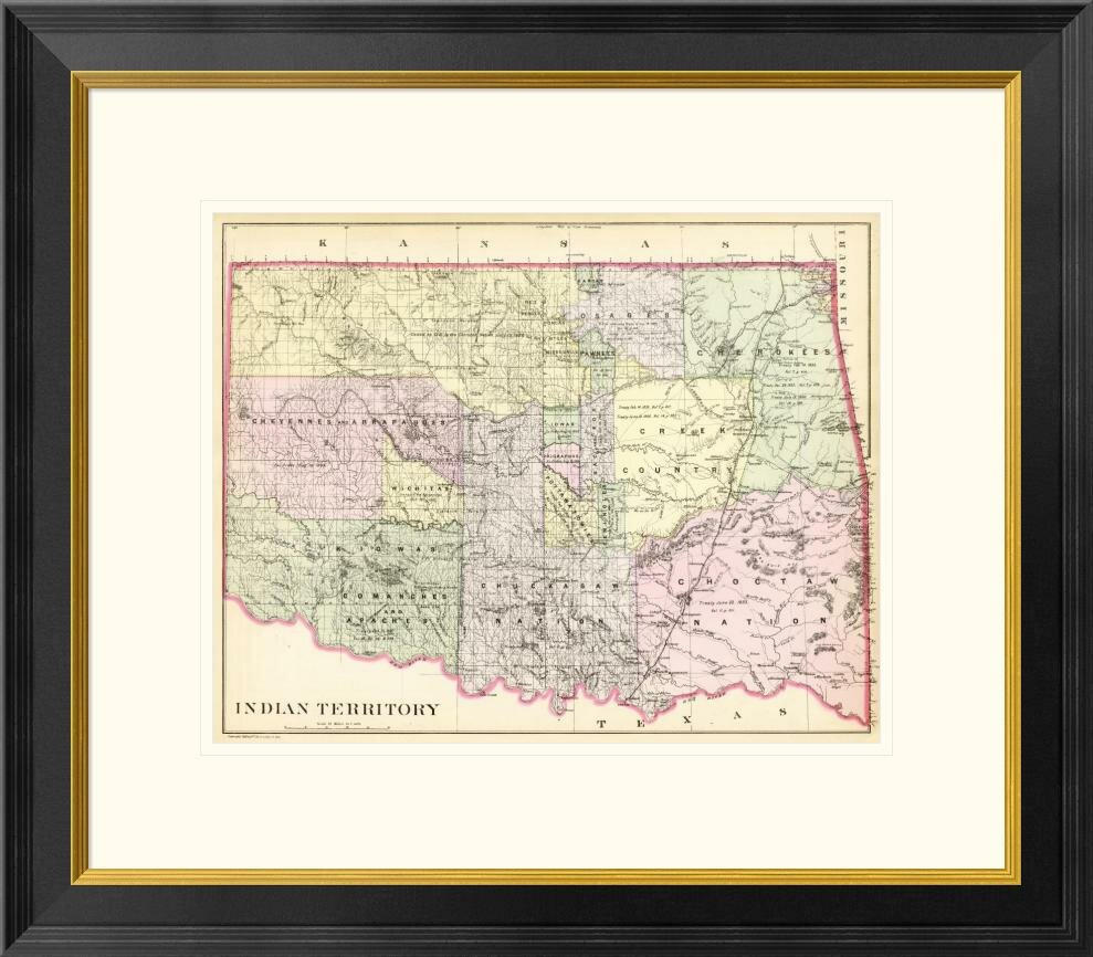 Global Gallery Indian Territory 1890 By Samuel Augustus Mitchell Framed Graphic Art Wayfair