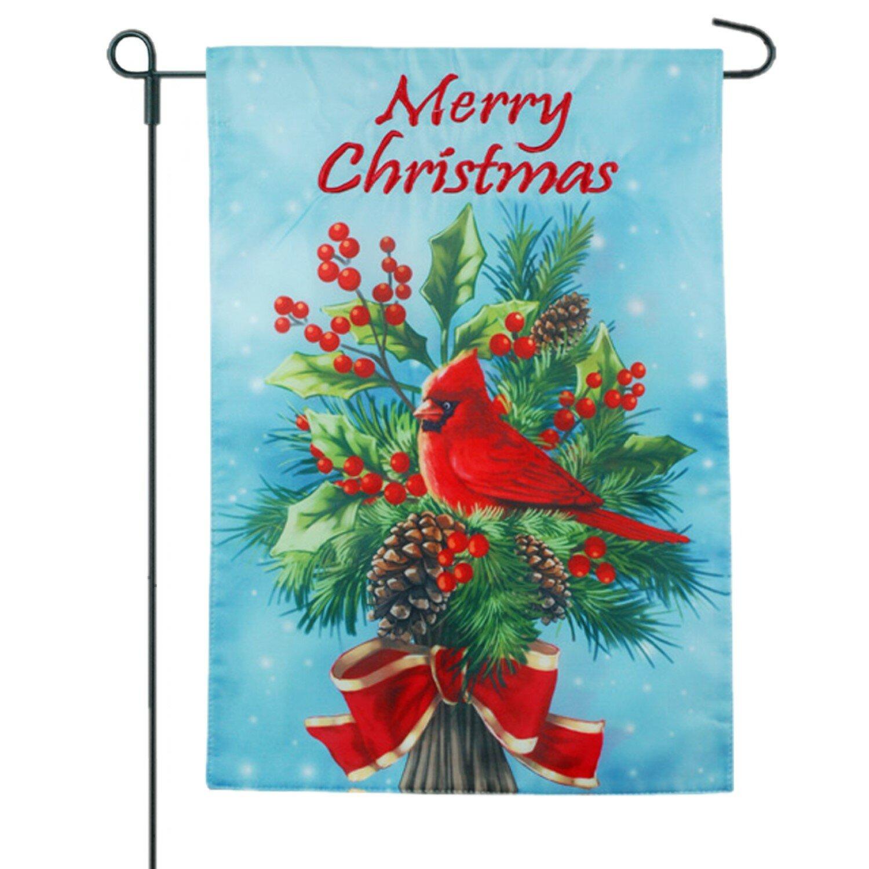 Jec Home Goods Christmas Cardinal 2 Sided Burlap 18 X 13 In Garden Flag Wayfair