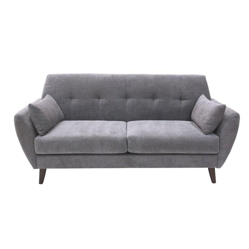 elle decor amelie mid century modern sofa reviews wayfair