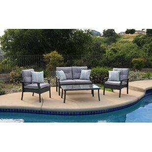 Roselia 4 Piece Deep Seating Group with Cushion