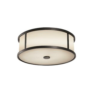 Millwood Pines Espana 3-Light Outdoor Flush Mount