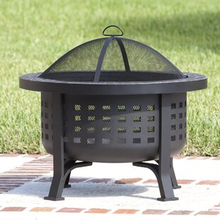 Fire Sense Alpina Steel Wood Burning Fire Pit
