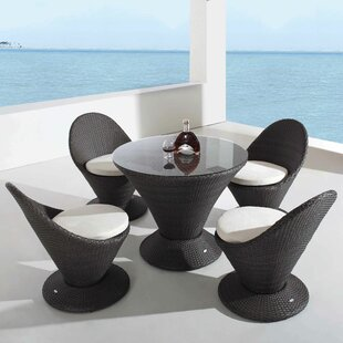 Brayden Studio Sisneros Martini with Cushions 5 Piece Dining Set