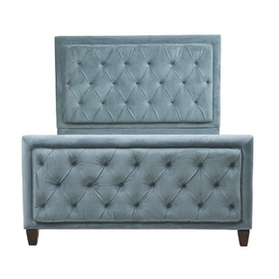 Everly Quinn Leonia Bella Ocean Upholstered Panel Bed