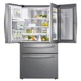 """36"""" 4-Door French Door FlexZone 27.8 cu. ft. Smart Energy Star Refrigerator with Food Showcase"""