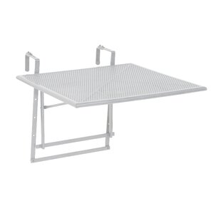 Tolentino Folding Steel Balcony Table By 17 Stories