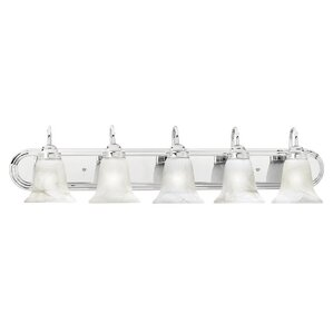 High Quality Tiverton Strip 5 Light Vanity Light