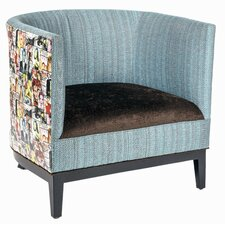 Magazine Mixed Media Barrel Chair by Loni M Designs