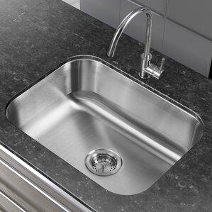 23 38 X 17 75 Single Basin Undermount Kitchen Sink