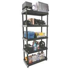 Heavy Duty 74.9 H Five Shelf Shelving Unit by RIMAX