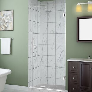 Kinkade 26 x 72 Hinged Frameless Shower Door by Aston