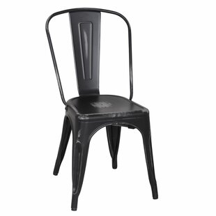 Homebeez Metal Stacking Side Chair (Set of 2)
