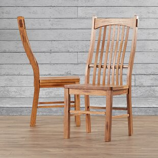 Loon Peak Corwin Solid Wood Dining Chair (Set of 2)