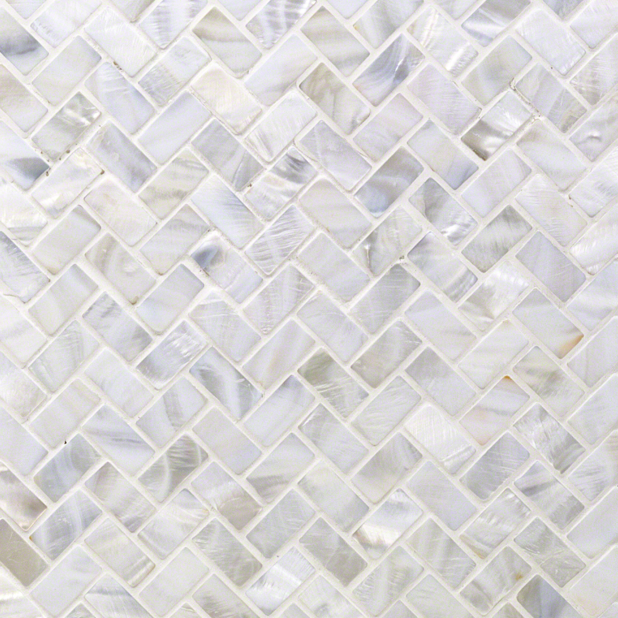 Ivy Hill Tile Pacif Random Sized Glass Pearl Shell Mosaic Tile In Polished White Pearl Reviews Wayfair