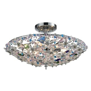 August Grove Saint-Pierre 6-Light Semi Flush Mount