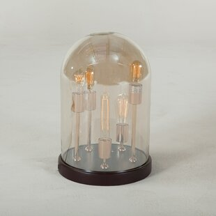 Claycomb Glass Cloche 19 Table Lamp