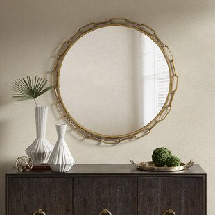 Chainlink Accent Mirror by Madison Park Signature