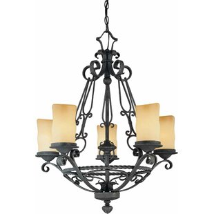 Volume Lighting Sevila 5-Light Shaded Chandelier
