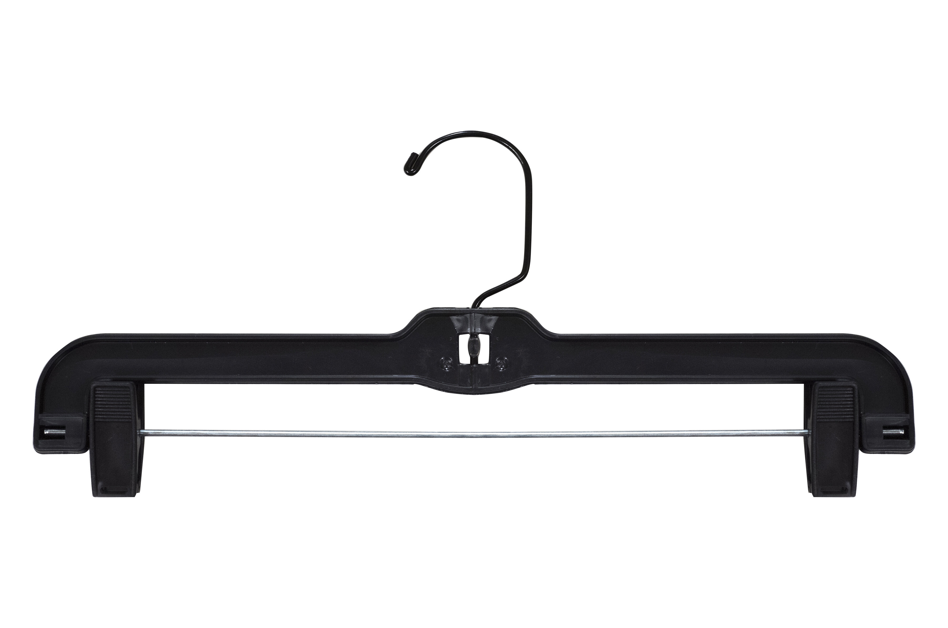 14 Clear Long Hook with Chrome Padded Clips NAHANCO 600RCLHHU Heavy Weight Plastic Skirt//Slack Hangers Pack of 25