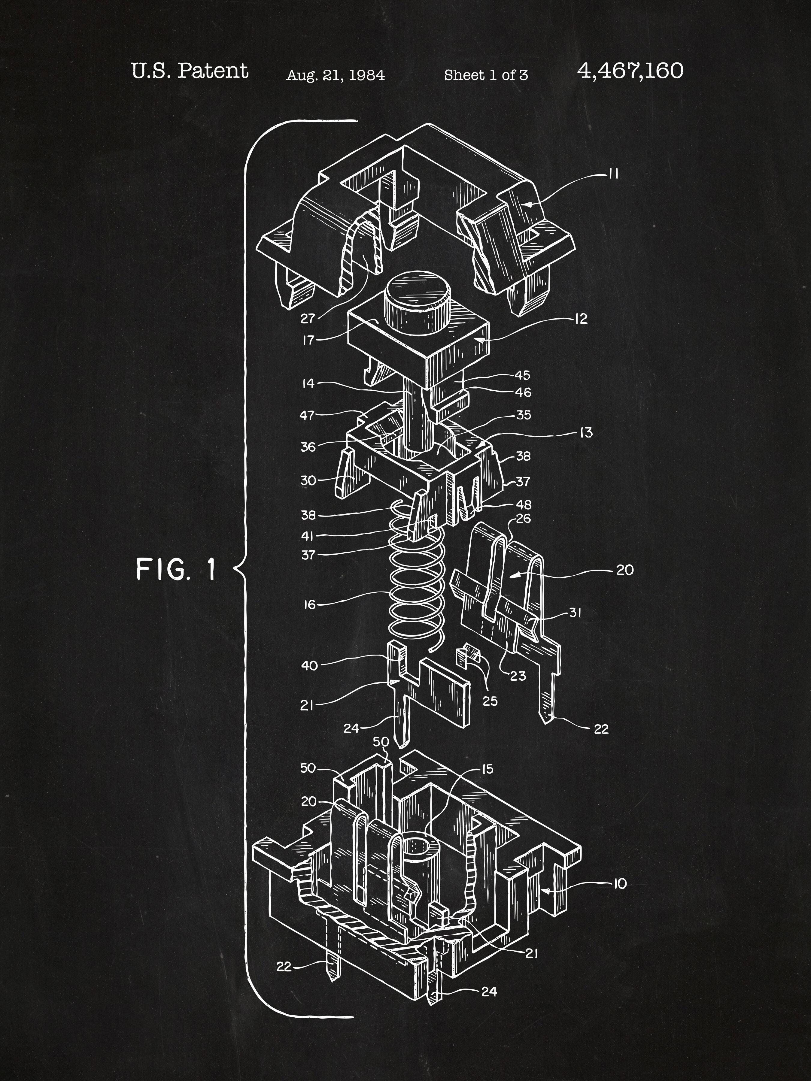 Inked and screened cherry key cap blueprint graphic art wayfair malvernweather Images