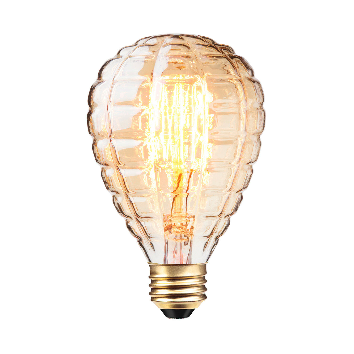 Replacement EDISON Light BULB ONLY ~ Copper Plated WIre SteamPunk Indoor Outdoor