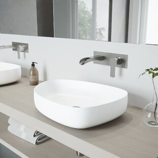 Compare prices Peony Stone Specialty Vessel Bathroom Sink with Faucet By VIGO