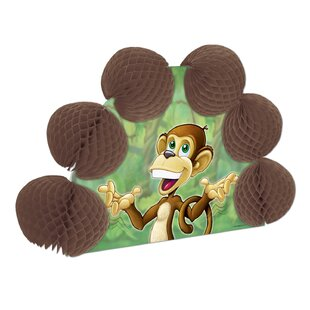 Monkey Pop-Over Paper Disposable Centerpiece (Set of 12)