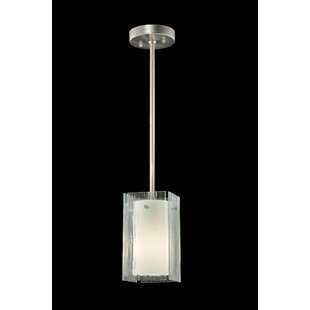 Metro Quadrato 1-Light Square/Rectangle Pendant by Meyda Tiffany