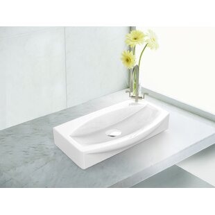 Price comparison Specialty Specialty Ceramic Specialty Vessel Bathroom Sink with Overflow By American Imaginations