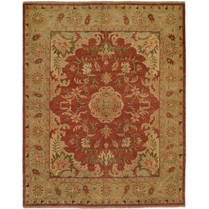 Dumka Hand-Knotted Brownstone Brick Area Rug