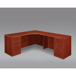 Fairplex Grommet Holes And Wire Management L-Shape Executive Desk by Flexsteel Contract Discount