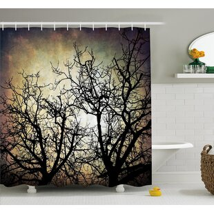 Horror Grunge Branches Twilight Single Shower Curtain