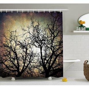 Horror Grunge Branches Twilight Single Shower Curtain
