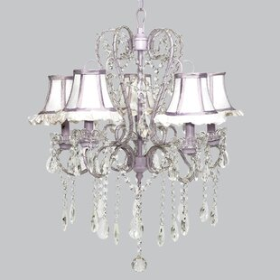 Whimsical chandelier light wayfair whimsical 5 light crystal chandelier mozeypictures Images