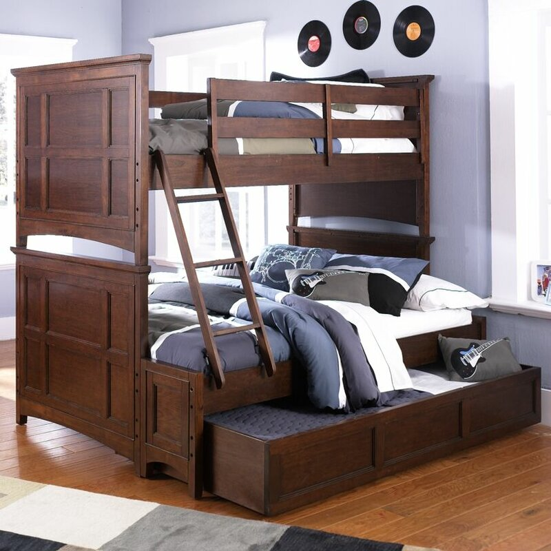 Full Bunk Bed With Trundle Part - 19: Diana Twin Over Full Bunk Bed With Trundle