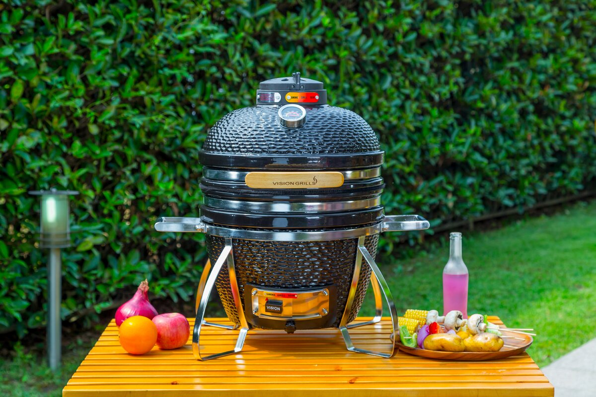Vision grills 135 cadet built inkamado charcoal grill reviews 135 cadet built inkamado charcoal grill dailygadgetfo Image collections