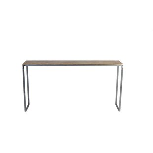 17 Stories Madhav Solid Steel Console Table