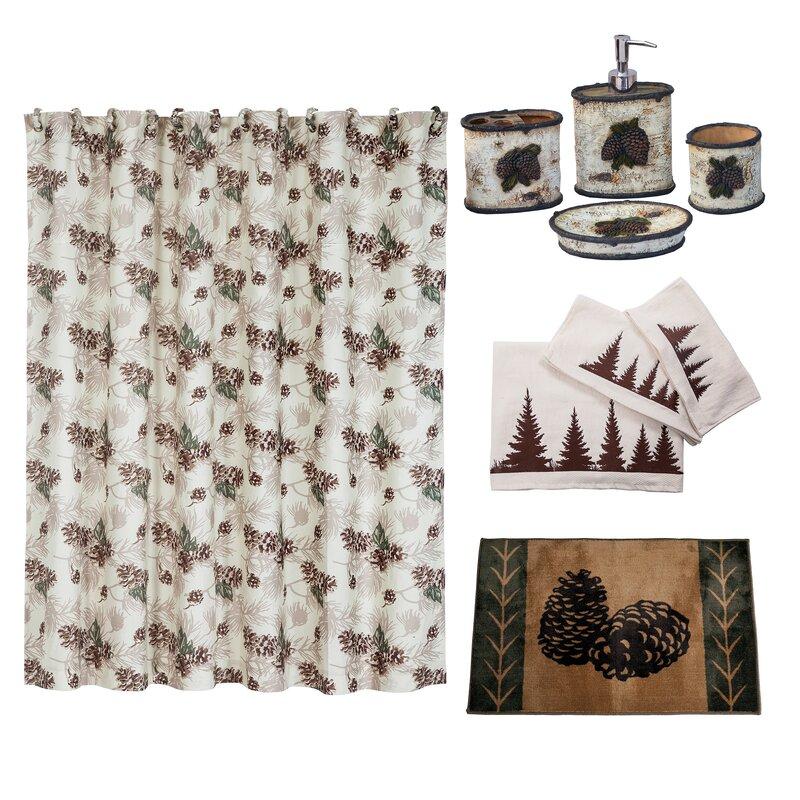 Forest Pine 21 Piece Shower Curtain Set