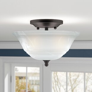 Top Reviews Birch Creek 2-Light Semi Flush Mount By Andover Mills