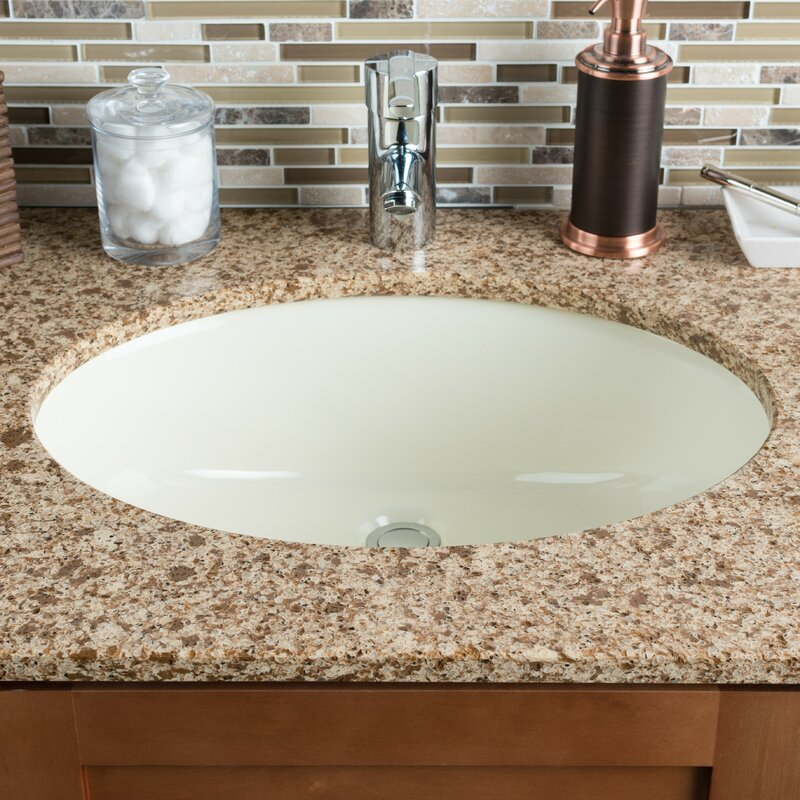 Awesome Ceramic Oval Undermount Bathroom Sink With Overflow