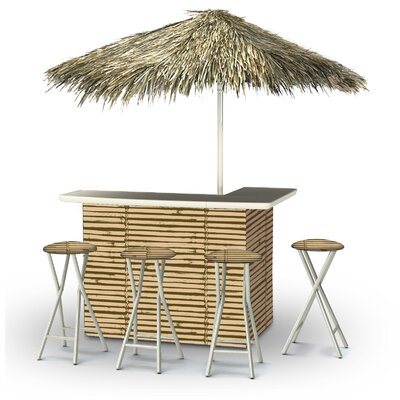 Waller Tiki Bar Set by Bayou Breeze No Copoun