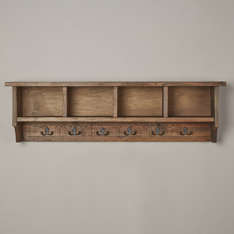 Mistana Veropeso Wall Mounted Coat Rack With Storage