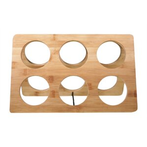 Bamboo 6 Bottle Tabletop Wine Bottle Rack by Worthy