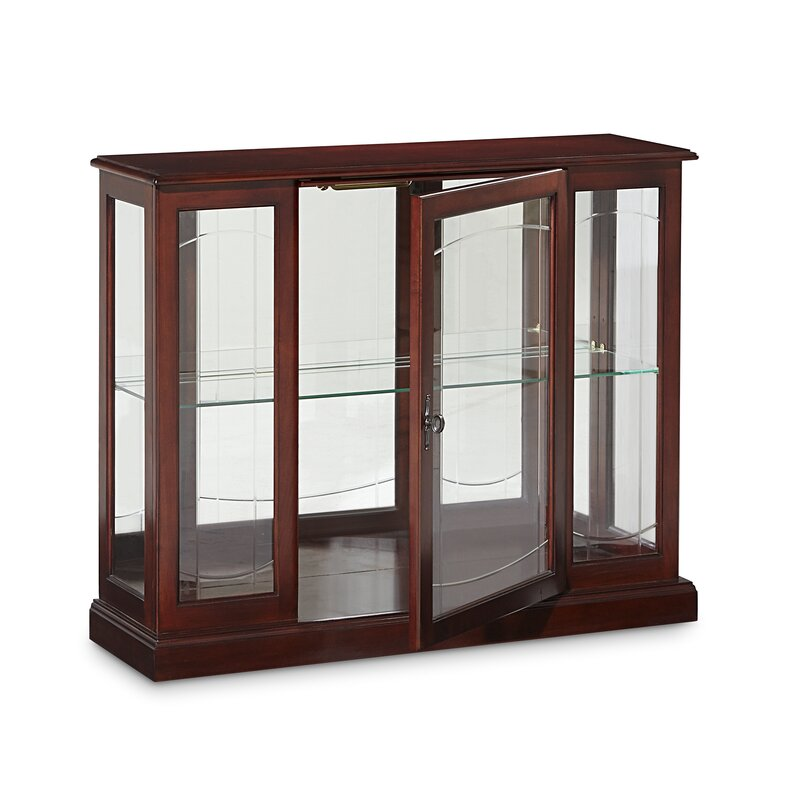Merveilleux Purvoche Lighted Console Curio Cabinet