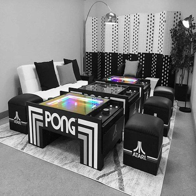 Atari Pong® Table Atari Pong Coffee Table Video Arcade Game with