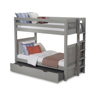 Read Reviews Oakwood Twin over Twin Bunk Bed with Trundle by Harriet Bee Reviews (2019) & Buyer's Guide