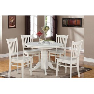 Langwater 5 Piece Dining Set by Beachcrest Home