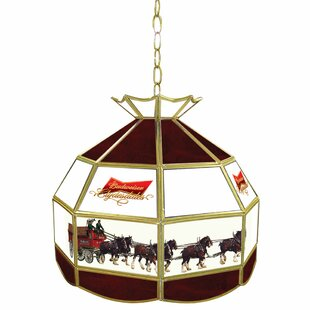 Budweiser Clydesdale Tiffany Lamp Light Geometric Pendant By Trademark Global